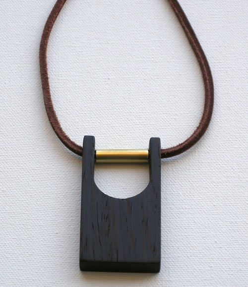 Modern Wood and Brass Jewelry by Jason Lees Design Brass