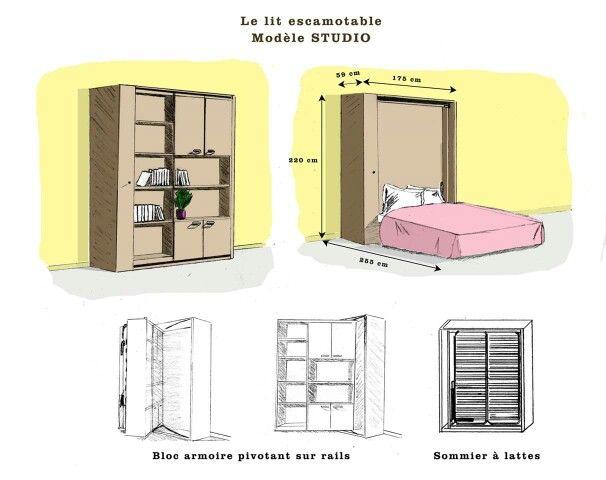 lit escamotable l 39 atelier de la d co pinterest lit escamotable lits et la deco. Black Bedroom Furniture Sets. Home Design Ideas
