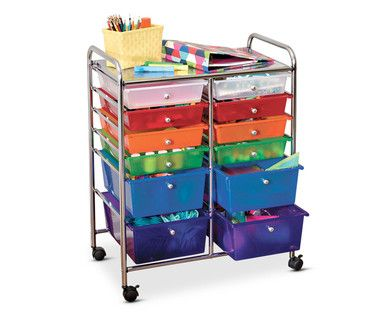 Easy Home 12 Drawer Rolling Cart Grocery Ads Aldi Weekly Grocery