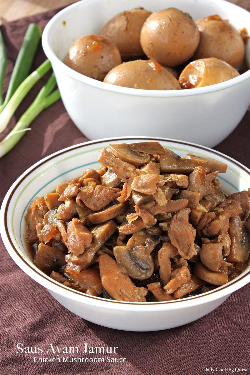 Saus Ayam Jamur Chicken Mushroom Sauce Recipe Stuffed Mushrooms Mushroom Sauce For Chicken Mushroom Sauce