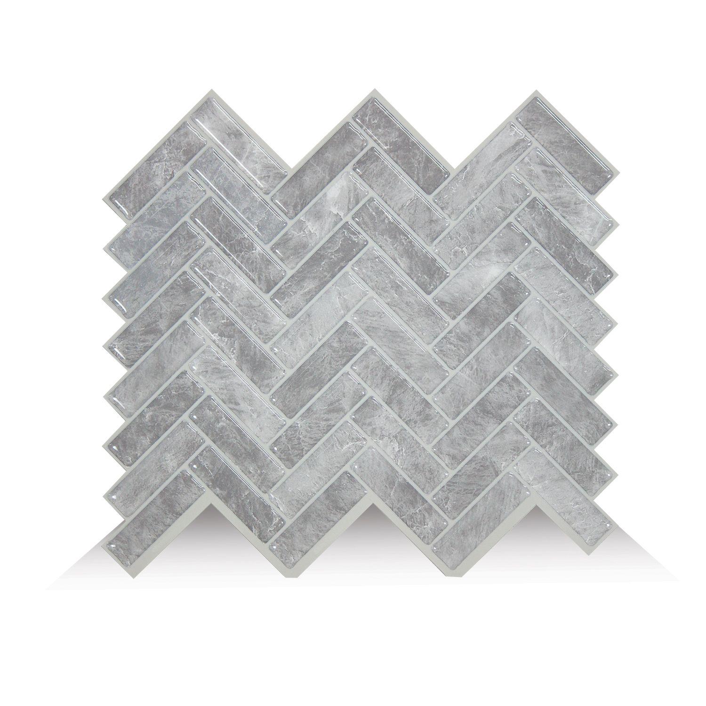 Cortina Grigio Carrelage Adhesif Smart Tiles Simplement Peler Et Coller Le Produit Adherera Sans Aucun Ajout De Autocollant Tuile De Dosseret Parement Mural