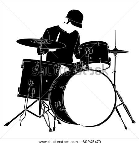 drummer silhouette clip art drummer silhouette stock vector