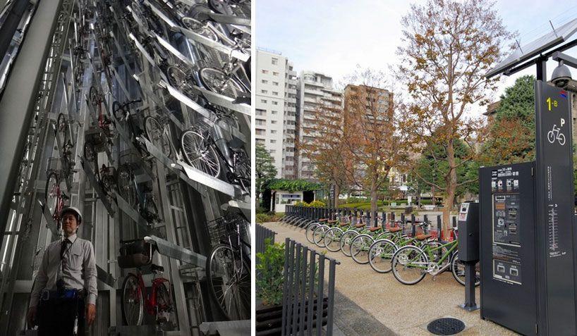 giken automatic underground bike parking system