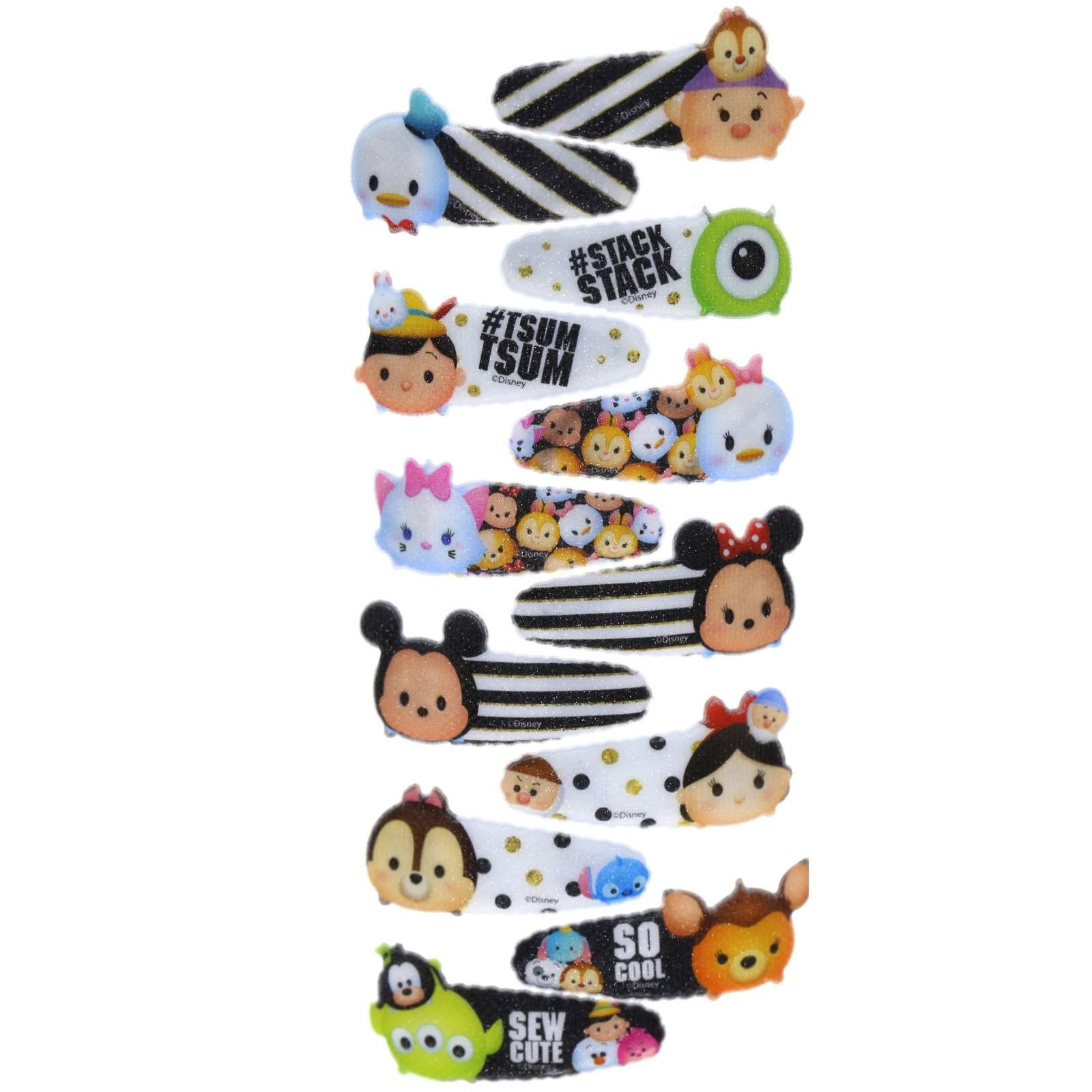 Tsum Tsum 12 Pack Hair Clips Hair Clips Beauty Kit Hair