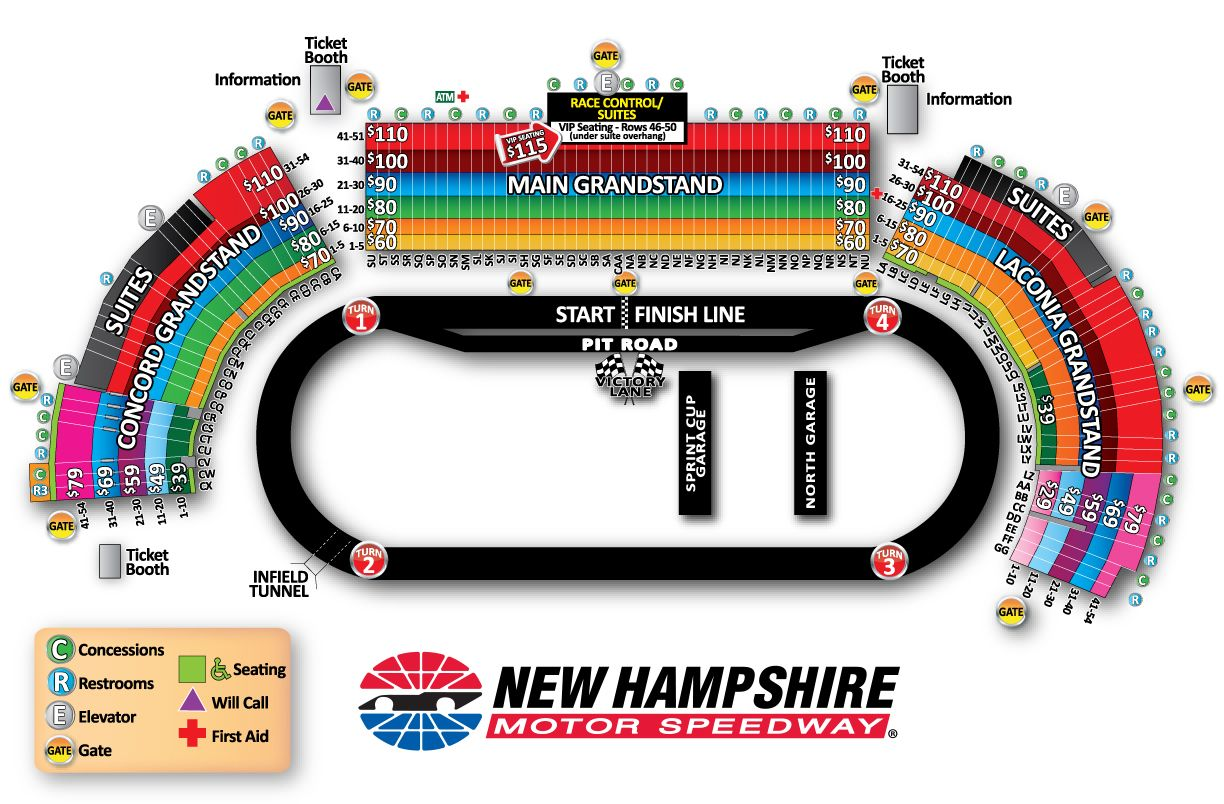 New Hampshire Motor Speedway Loudon Nh Seating Chart View Motor Speedway New Hampshire Speedway