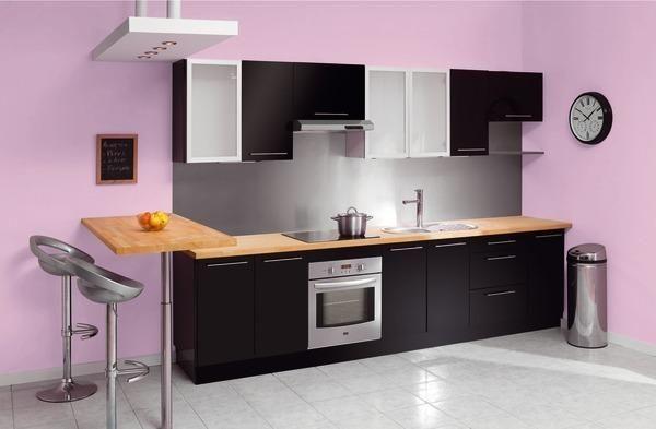 Exemple cuisine noir laque brico depot id es pour la cuisine pinterest cuisine noir laque for Cuisine equipee brico depot