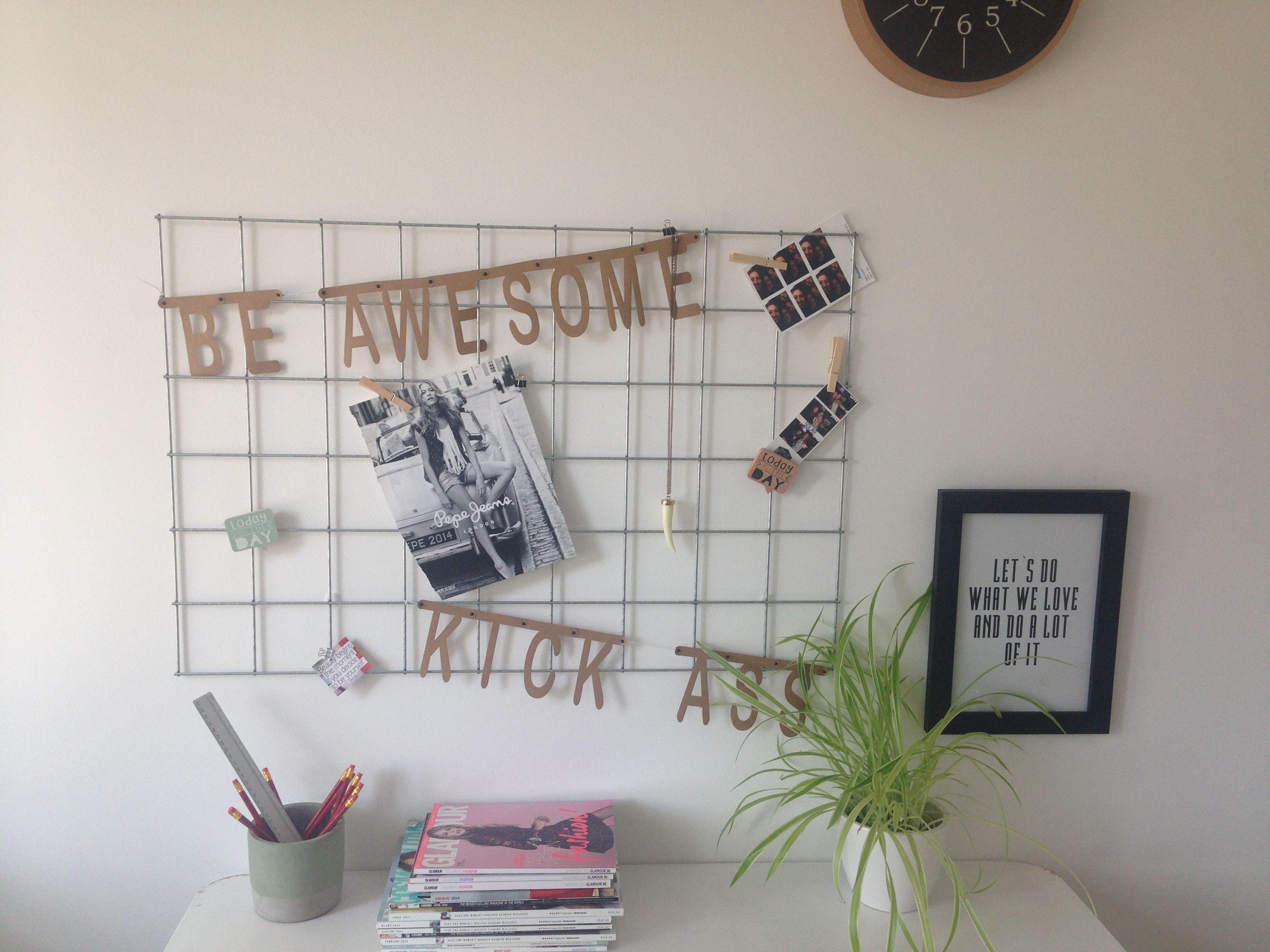 Cute office DIY memo board. Memo bord, kantoor decoratie. #DIY ...