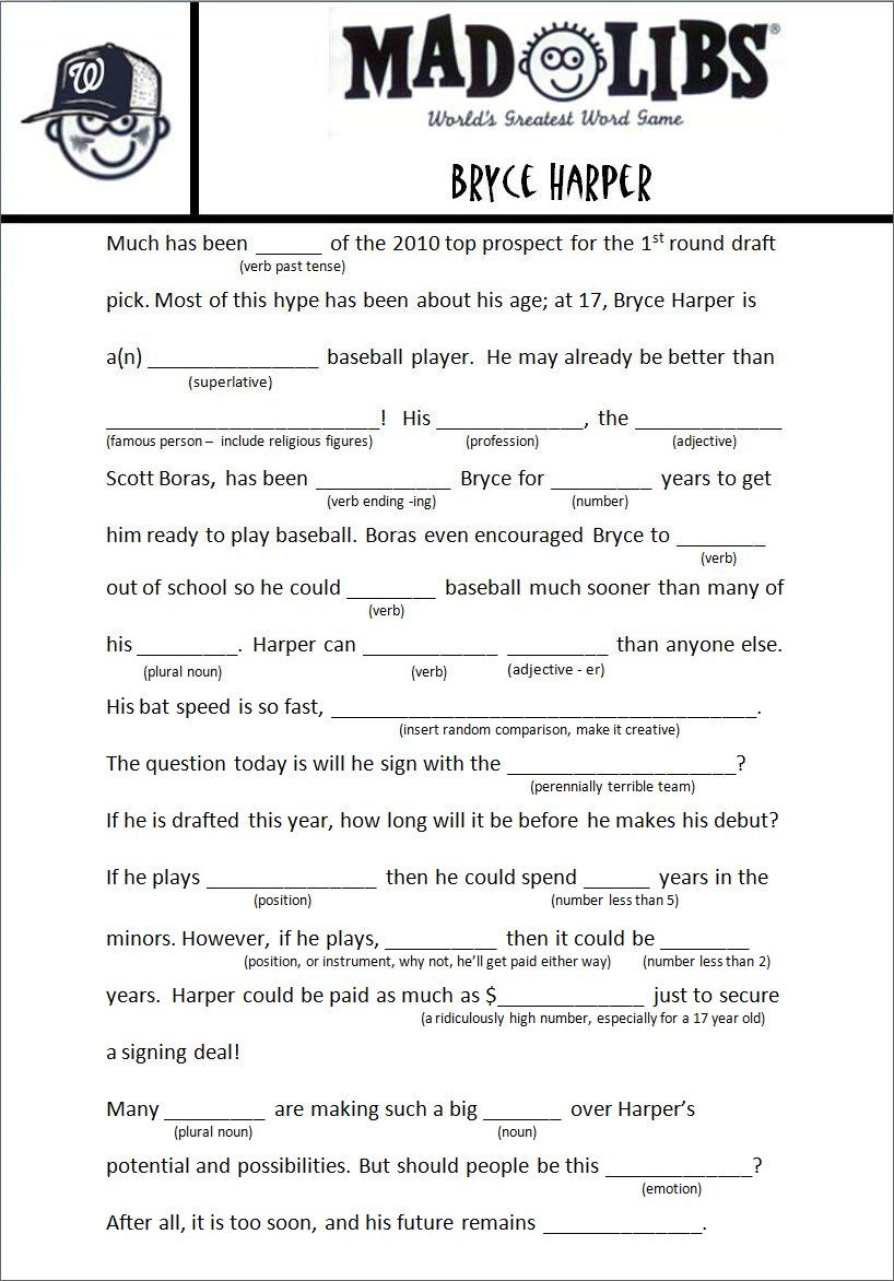 Image Result For Free Adult Mad Libs Funny Job Related