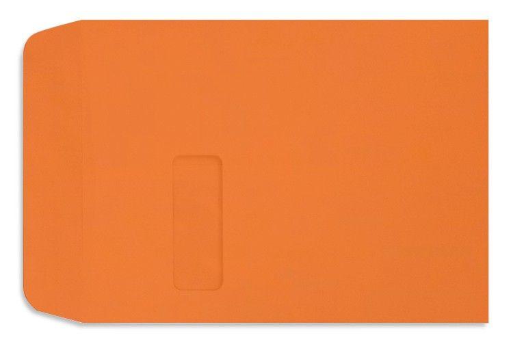 Mandarin Orange 9 X 12 Envelopes Single Window 9 X 12