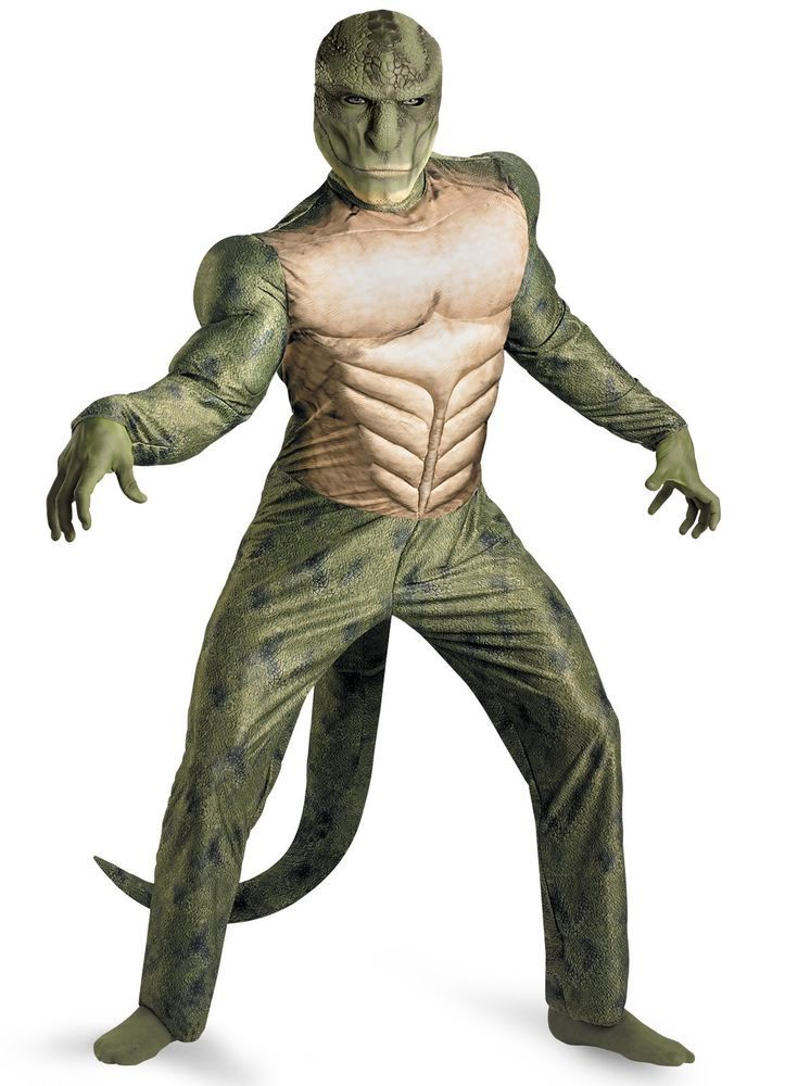 The Amazing Spiderman Movie Lizard Muscle Mens Costume