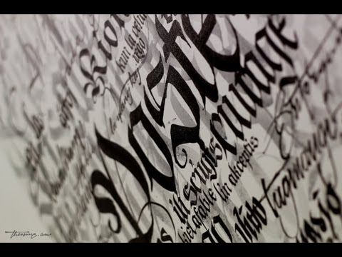 Dope calligraphy videos by theosone inspirational calligraphy