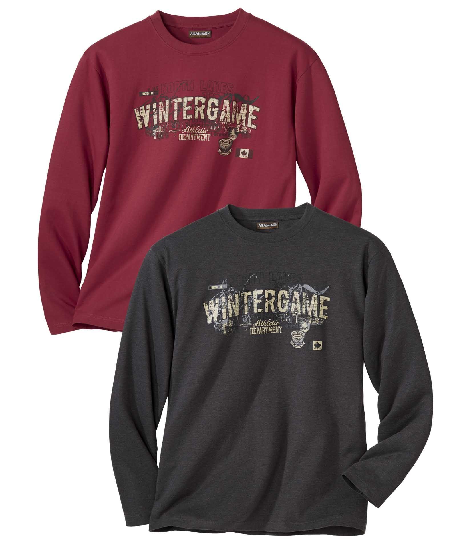Lot de 2 Tee-Shirts Manches Longues Canada Winter  #discount#promo#atlasformen