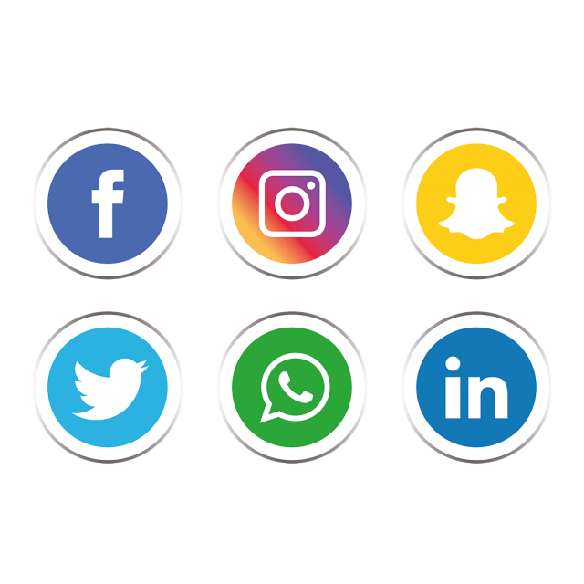 Social media icons set PNG and Vector Pustakawan, Gambar