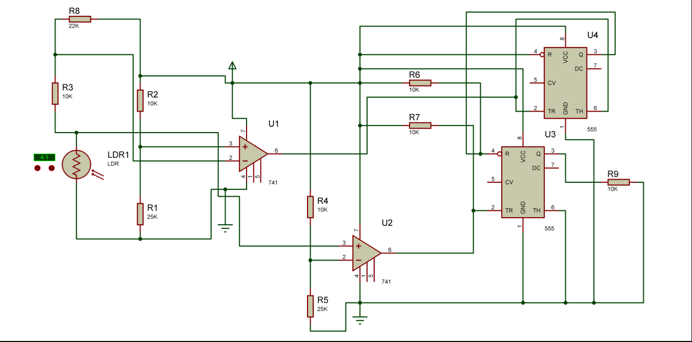 Auto Intensity Control Of High Powered Led Lights Circuit Mini Schematic Two Lm3914 Ics Cacaded Together To Get A 20 Voltage Intelligent Unambiguous Night Lamp Switcher In This We Shall See How Make