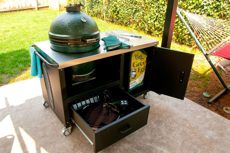 1000+ images about Green Egg built ins on Pinterest | Built in ...