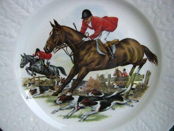Pontesa Chinamoda Fox Hunt 8 Plates Set   by TwoCousinsCollection