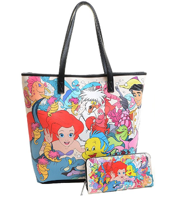 Disney Discovery- The Little Mermaid Loungefly Tote and Wallet ... 4910daf3f7a5e