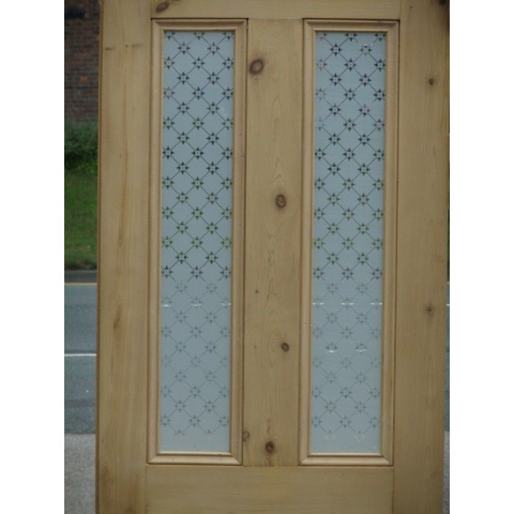 Frosted glass front door - Victorian 4 Panel Etched Glass Door With Fleur Glass Design