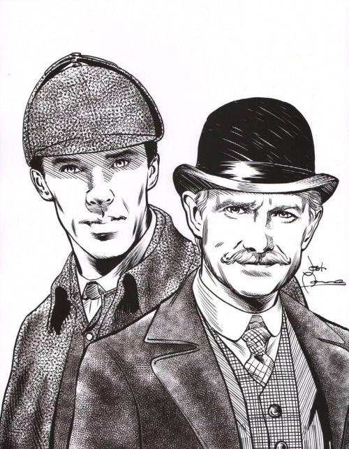 Details about Signed SHERLOCK HOLMES Art Print Benedict Cumberbatch BBC w/ Original Quote
