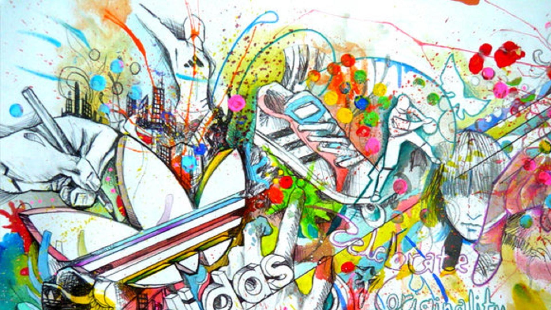 político Academia Mendigar  Funky Adidas | Graffiti logo, Adidas wallpapers, Drawing wallpaper