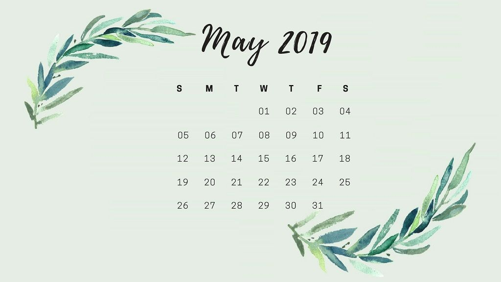 Calendario Uva 2020.May 2019 Desktop Calendar Hd Wallpaper May 2019 Calendar Template