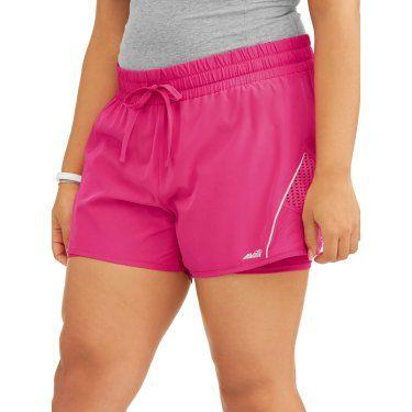 1444a874a339b Women s Plus Size Crescent Woven Short - Walmart.com