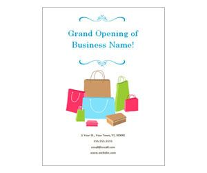 boutique grand opening flyer get this free printable customizable