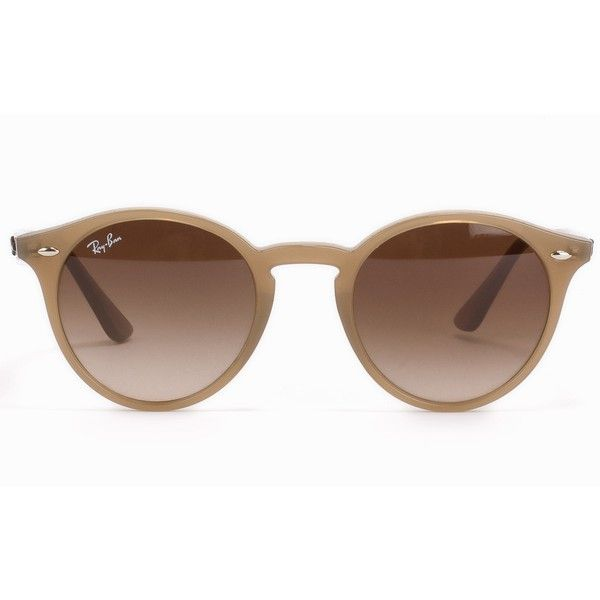 Ray Ban Rb 2180 (£150) ❤ liked on Polyvore featuring accessories, eyewear, sunglasses, glasses, nude, womens-fashion, ray ban eyewear, nude sunglasses, ray ban glasses and uv protection glasses