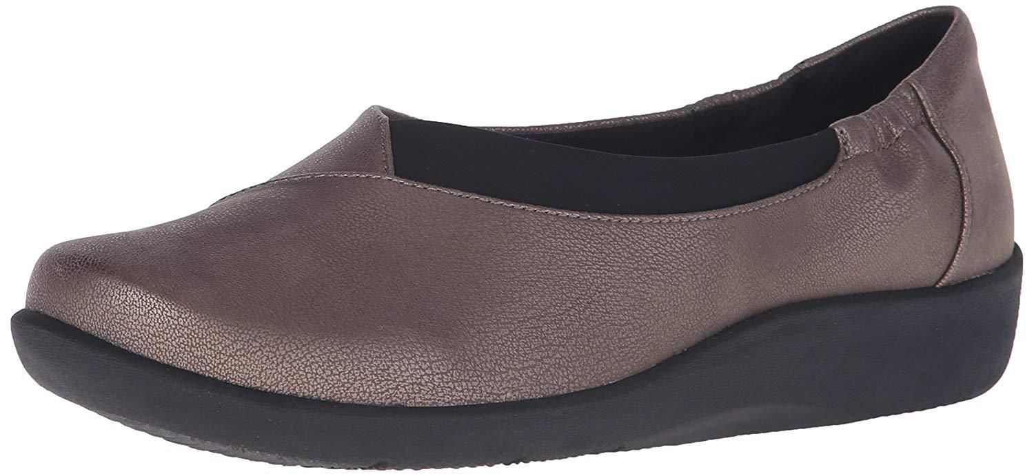 LADIES CLARKS CLOUD STEPPERS SLIP ON CASUAL WEDGE PUMPS SHOES SILLIAN JETAY