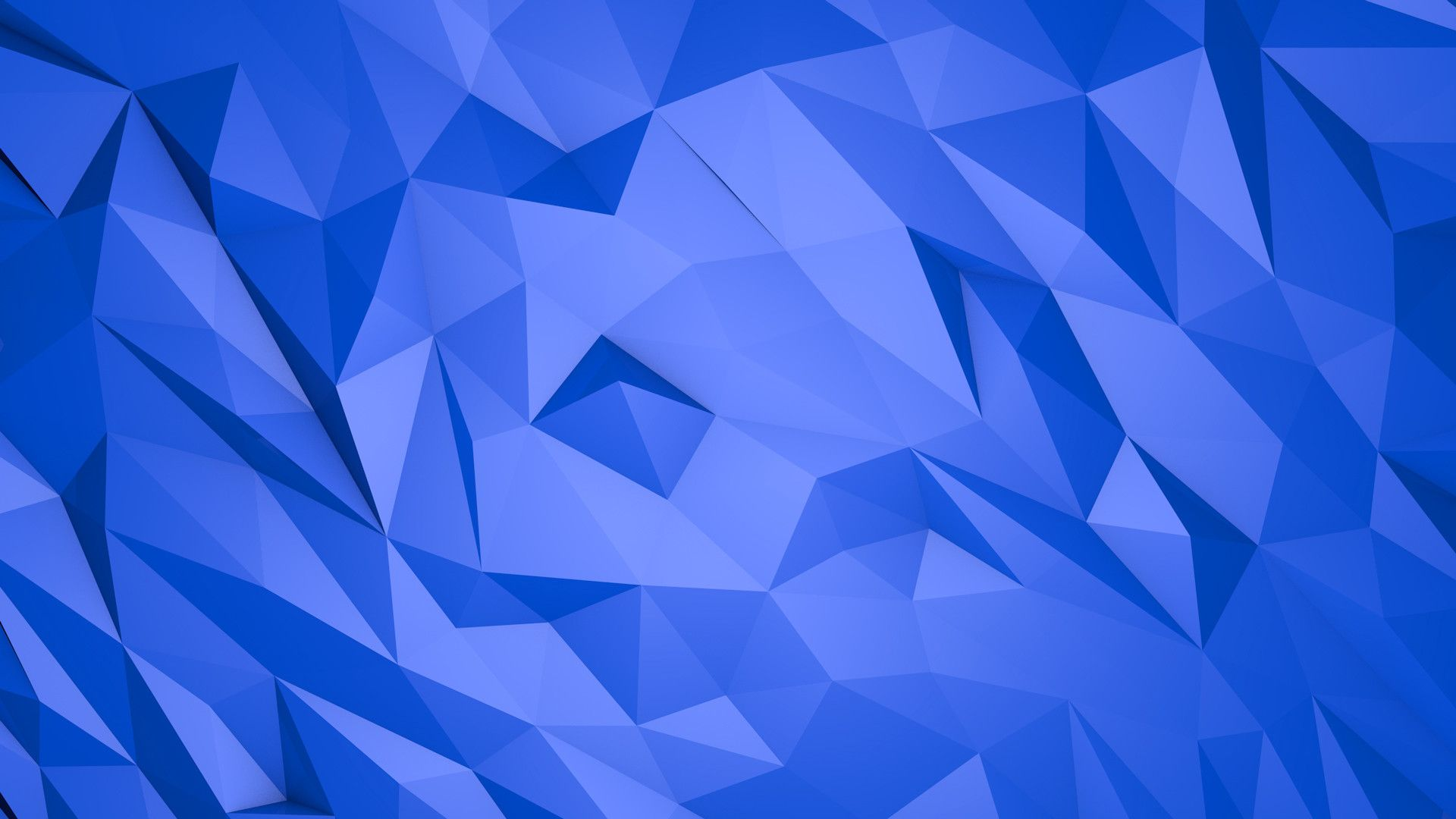 Abstract blue triangles 3D wallpaper. Awesome 3D and HD