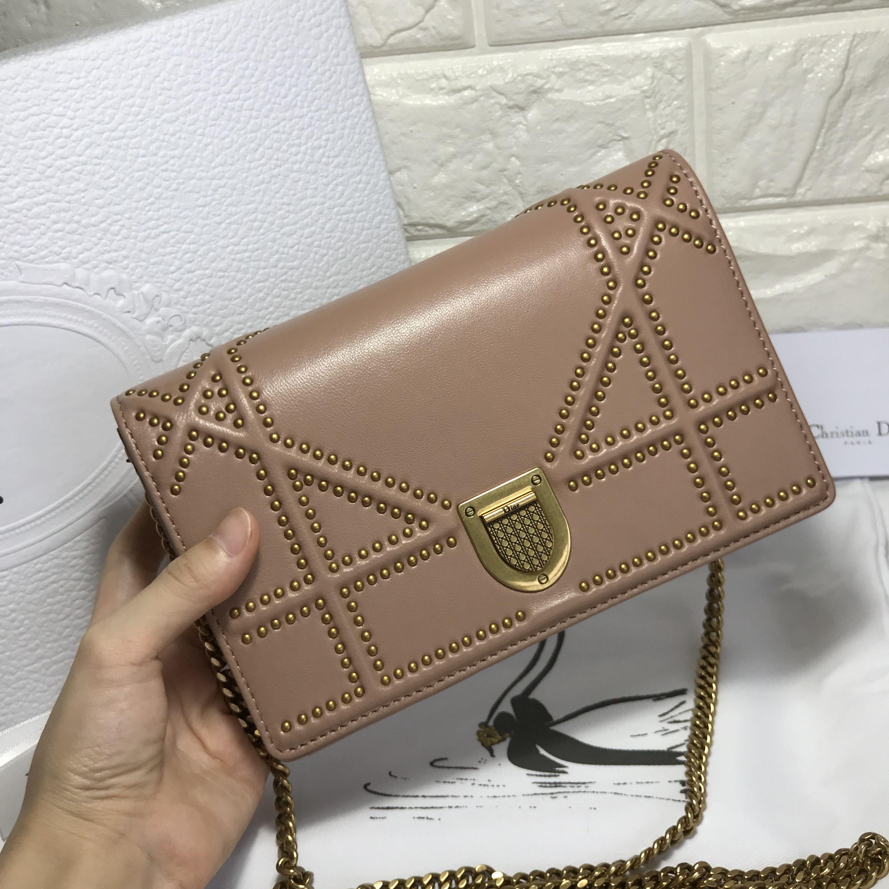 1a9508f7f1f1 Chrisitian Dior diorama WOC chain flap bag original leather version ...