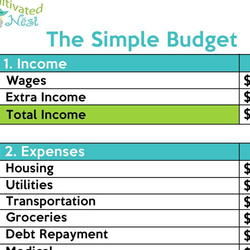 How To Make A Simple Budget  Frugal Living And Frugal