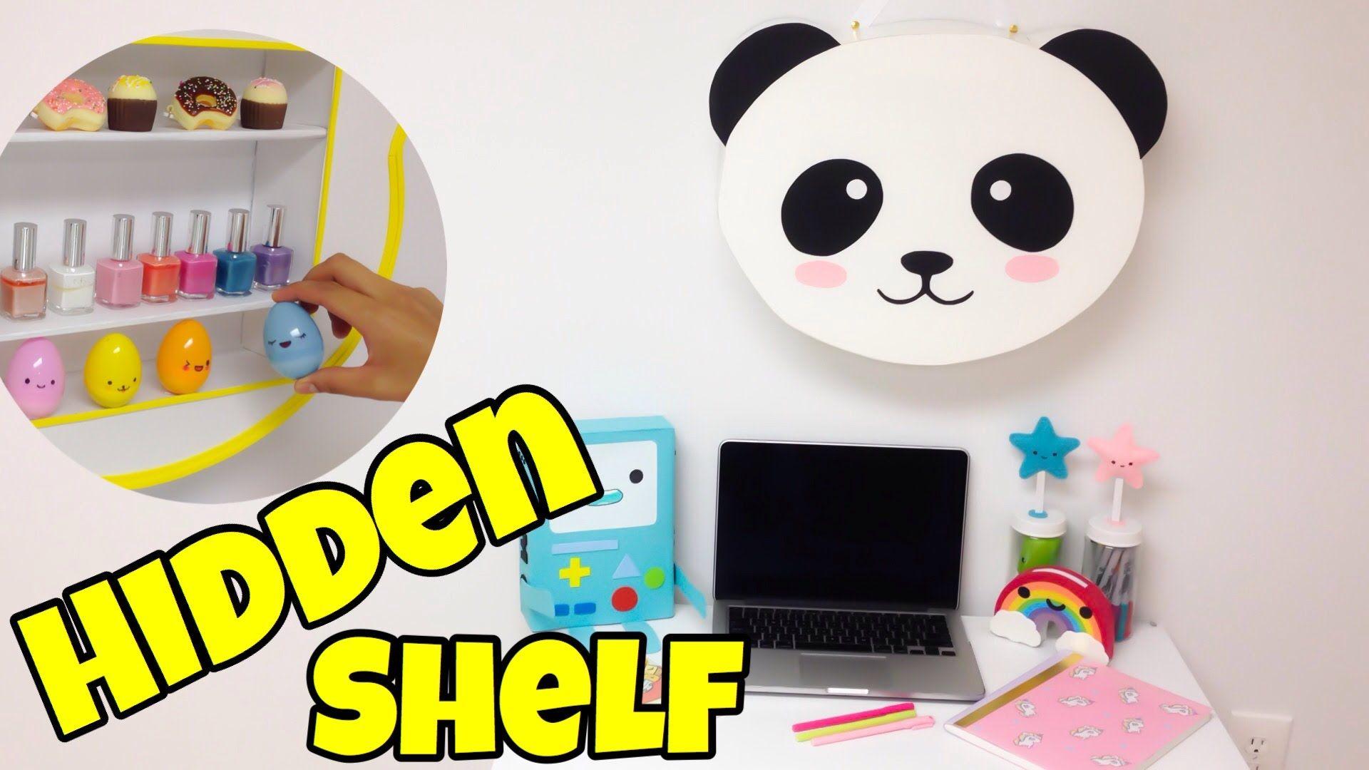 Hidden Shelf Kawaii Crafts Easy Diy Room Decor Ideas Easy Diy Room Decor Diy Room Decor Kawaii Crafts