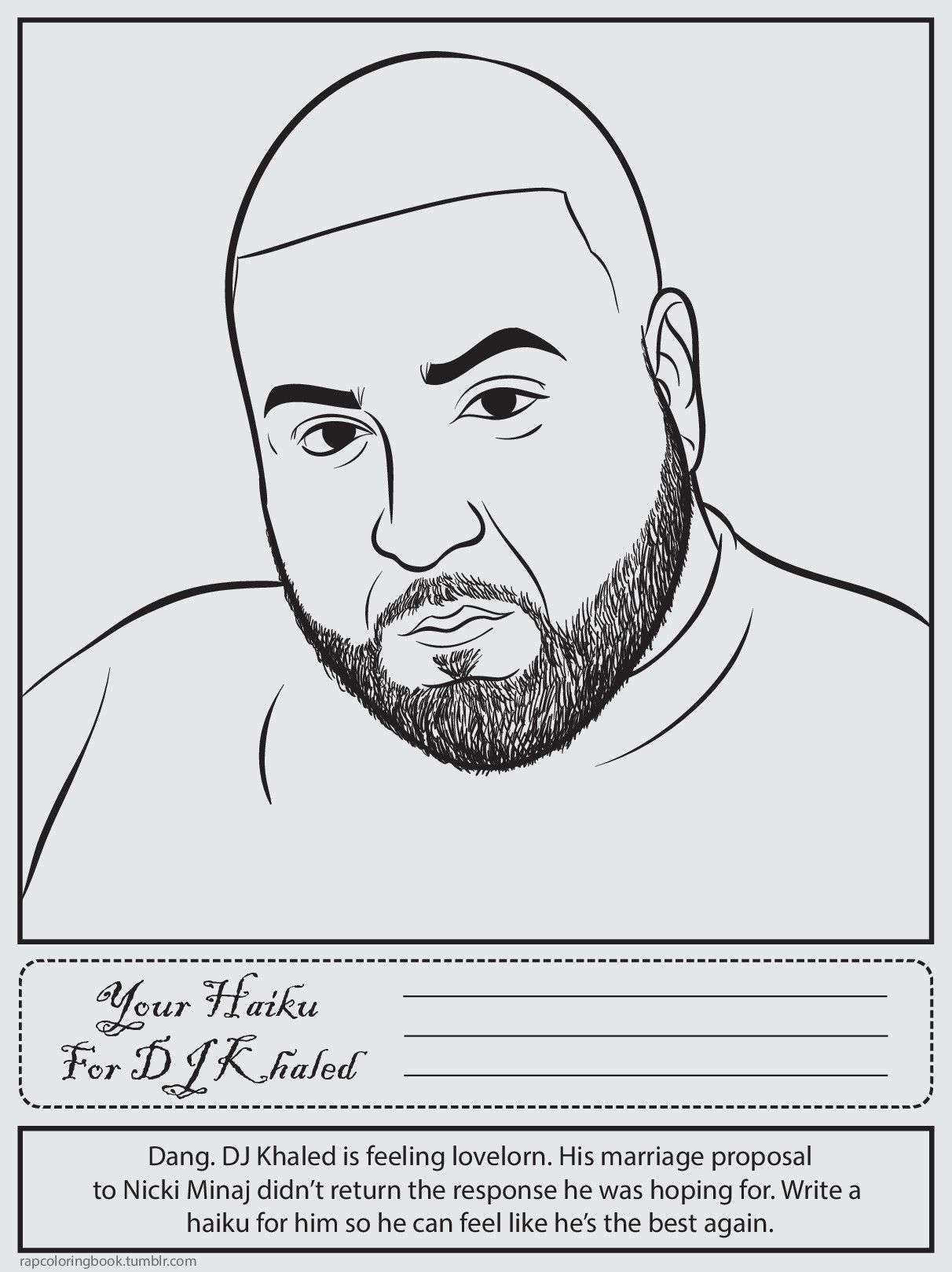 Bun B S Jumbo Coloring And Rap Activity Tumblr