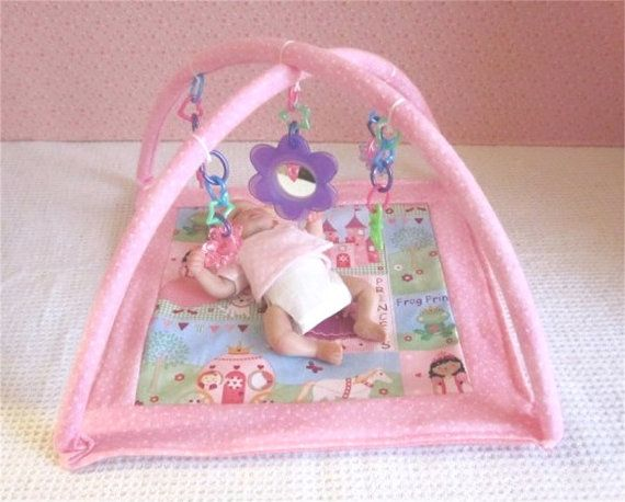 Small Floor Gym / Play Mat For  46 Size Baby Dolls by SewCute4U2, $14.99