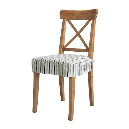 INGOLF Chair With Pad IKEA Solid Wood A Hardwearing Natural Material Machine Washable