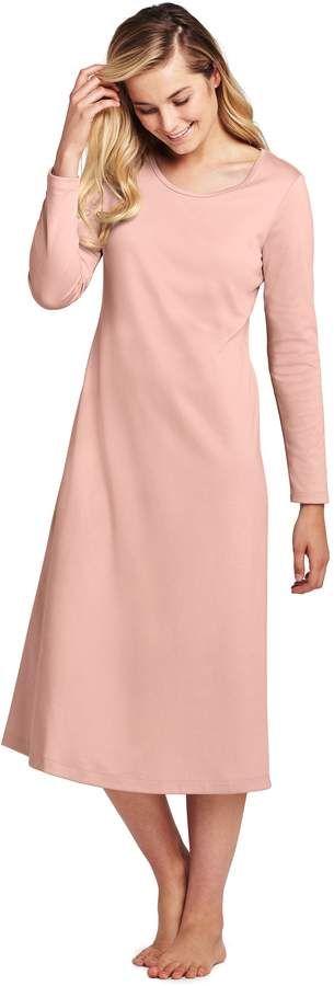 9b7b8d81b Lands' End Lands'end Women's Midcalf Supima Cotton Nightgown Long Sleeve # Midcalf#Supima#Lands