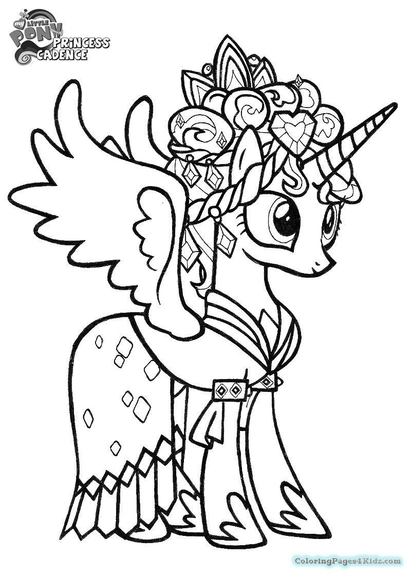 My Little Pony Coloring Pages Princess Cadence Wedding My Little