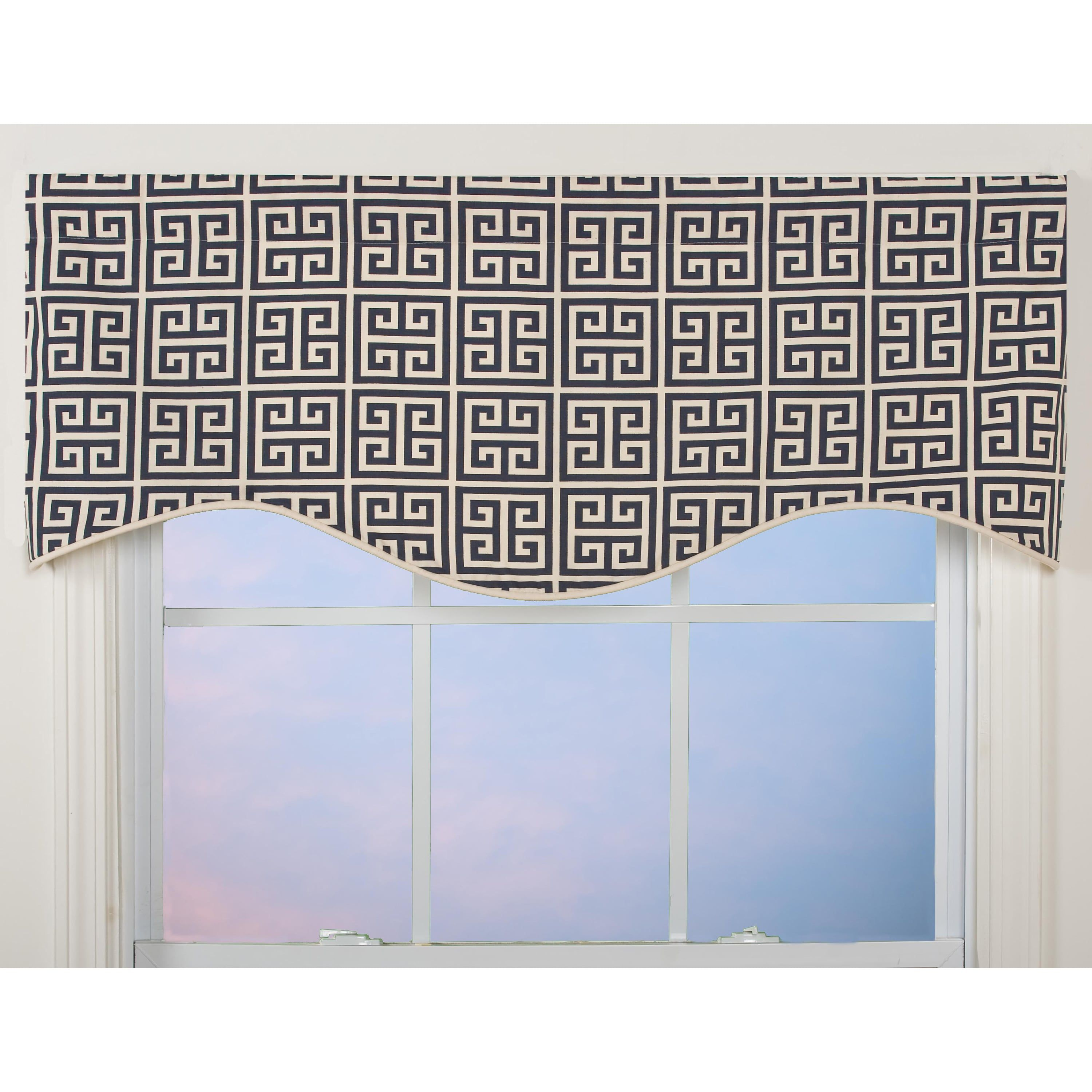 Greek key pattern mshaped valance black outlet store and products