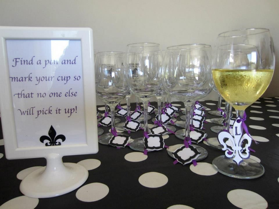 we made tags to mark our wine glasses cut from the cricut sophisticated cartridge i came up. Black Bedroom Furniture Sets. Home Design Ideas