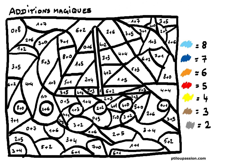 Coloriage Magique Soustraction à colorier - Dessin à ...
