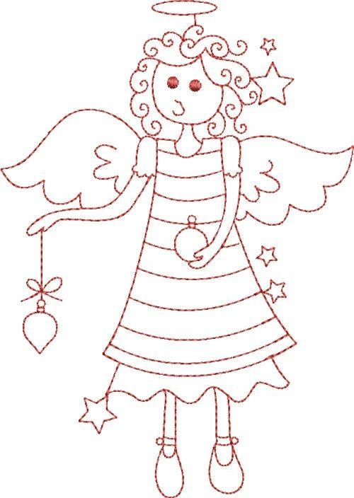 christmas angel   angel Navidad   Pinterest   Figuras para colorear ...
