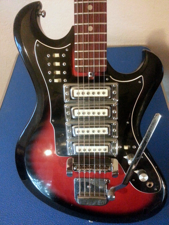 60\'s Teisco/Domino 4 pickup guitar. | Guitars I love | Pinterest ...