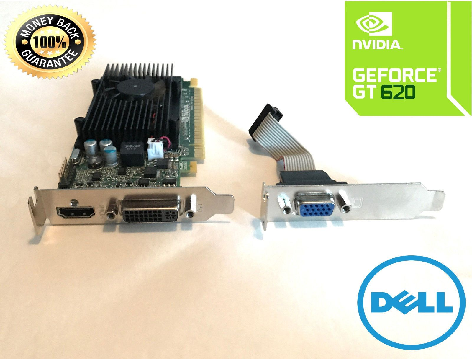 Dell OEM SFF Nvidia GT 620 1GB PCIe HDMI DVI VGA Video