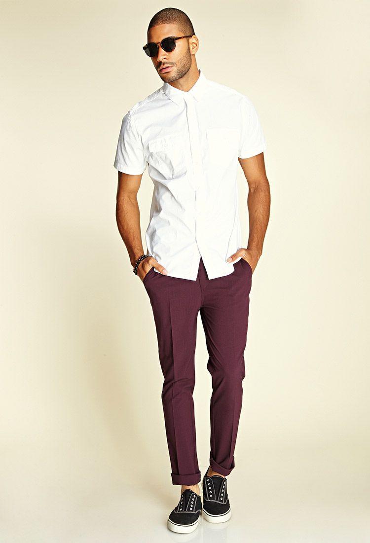 Crisp Woven Dress Pants Maroon Pants Mens Mens Fashion Smart Pants Outfit Men [ 1101 x 750 Pixel ]