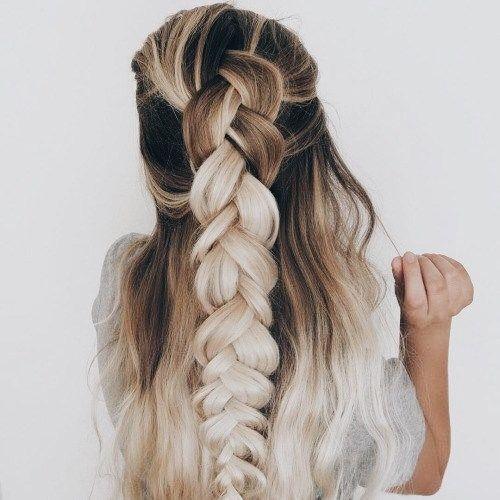 Pin de Danielle Gallegos en Hair Pinterest Peinados, Trenza y