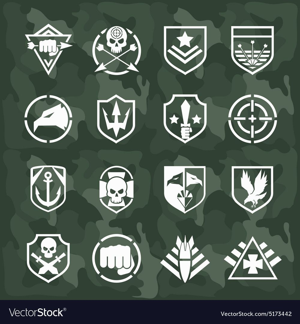 Military symbol icons vector image on Military logo