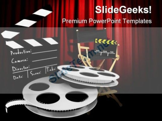 Movies Director Entertainment Powerpoint Templates And Powerpoint