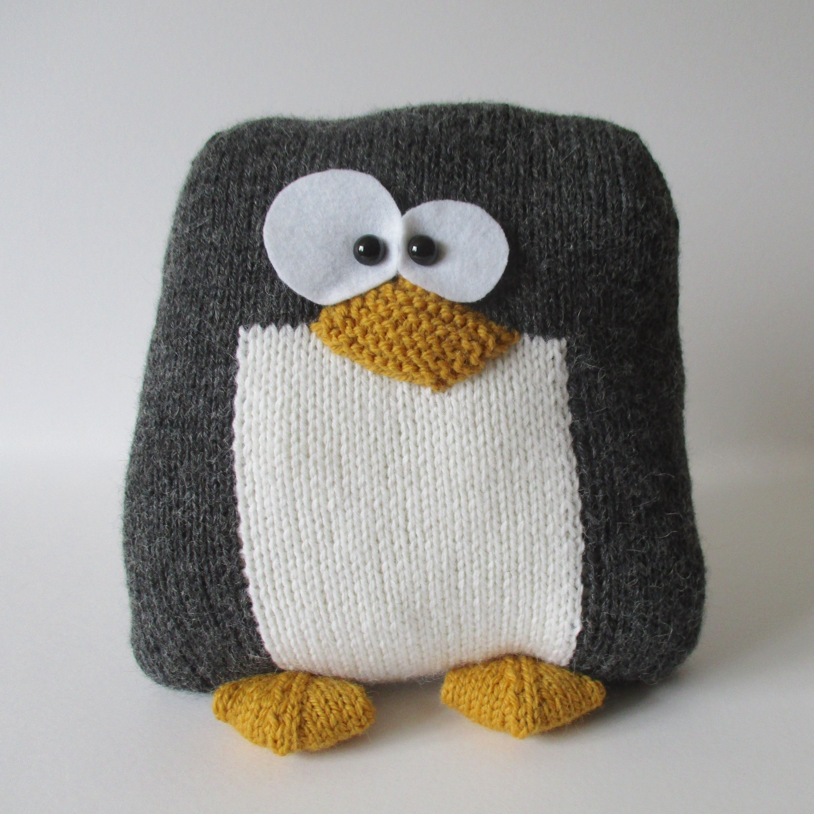Penguin Cushion | Penguins, Cuddling and Knit patterns