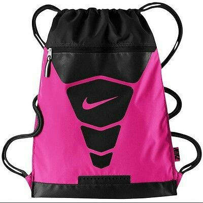 NEW Nike Vapor GymSack Vivid Pink/Black Drawstring, Backpack Gym ...